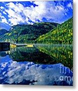 Bull Lake In Fall Metal Print