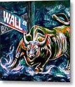 Bull Market Night Metal Print by Teshia Art