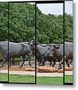 Bull Market Quadriptych Metal Print