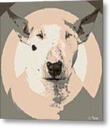 Bull Terrier Graphic 1 Metal Print