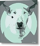Bull Terrier Graphic 3 Metal Print