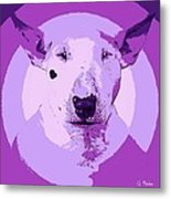 Bull Terrier Graphic 5 Metal Print