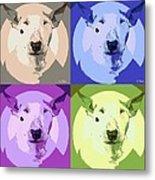 Bull Terrier Pop Art Metal Print