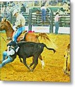 Bulldoggin Cowboys Metal Print