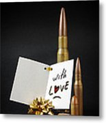 Bullets For You Metal Print