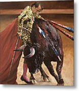 Bullfighter Metal Print