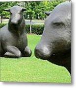 Bulls 2 Metal Print by Randall Weidner