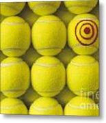 Bullseye Tennis Balls Metal Print
