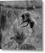 Bumble Bee Post Card 2 Bw Metal Print