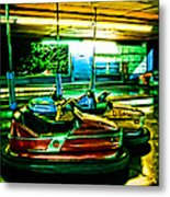 Bumper Cars Metal Print by Colleen Kammerer