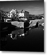 bunbeg house guesthouse in bunbeg harbour and clady river gweedore bay county Donegal Republic of Ireland Metal Print