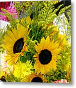 Bunch Of Sunflowers Metal Print