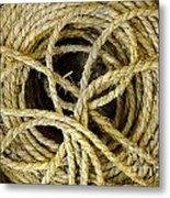 Bundle Of Old Straw Rope Metal Print