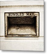 Bundled Mail Metal Print