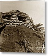 Bunker Above The Dak Poko River Near Dak To Kontum Province Vietnam 1968 Metal Print