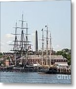 Bunker Hill With Ships Metal Print