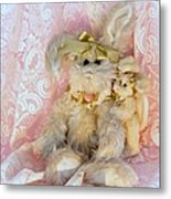 Bunny Lace Metal Print