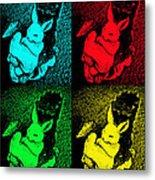 Bunny Pop Art Metal Print