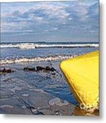 Buoy At Low Tide Metal Print
