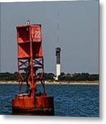 Buoy To Lighthouse Metal Print