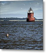 Buoy What A Lighthouse Metal Print