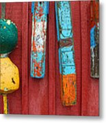 Buoys At Rockport Motif Number One Lobster Shack Maritime Metal Print by Jon Holiday