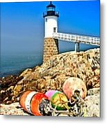 Buoys At The Headlight Metal Print