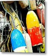 Buoys Metal Print by Mamie Gunning