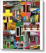 Burano Italy Poster Metal Print