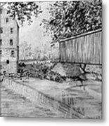 Burfordsville Bridge And Bollinger Mill Metal Print