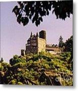 Burg Katze Castle On The Rhine Metal Print
