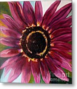Burgundy Star Light Metal Print