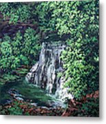 Burgess Falls State Park Tn. Metal Print by W  Scott Fenton