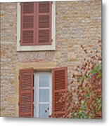 Rust Coloured Shutters Metal Print