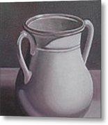Burgundy Amphora Metal Print