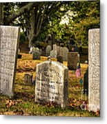 Burial Hill Cemetery-close Up Metal Print