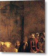 Burial Of St Lucy Metal Print by Caravaggio