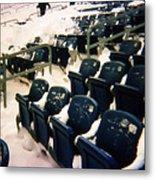 Buried Gillette Stadium Seats Metal Print