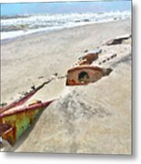 Buried Treasure - Shipwreck On The Outer Banks I Metal Print