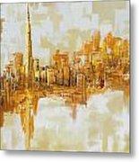 Burj Khalifa Skyline Metal Print