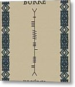 Burke Written In Ogham Metal Print