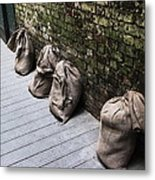 Burlap And Brick Metal Print