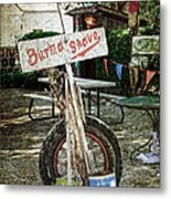 Burma Shave Sign Metal Print by RicardMN Photography