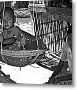 Burmese Mother And Son Metal Print by RicardMN Photography