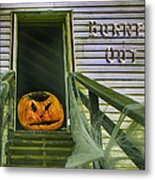 Burned Out - Halloween Metal Print