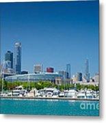 Burnham Harbor And The Chicago Skyline Metal Print by Kristopher Kettner