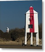 Burnham-on-sea Lighthouses Metal Print