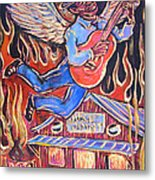 Burnin' Blue Spirit Metal Print by Robert Ponzio