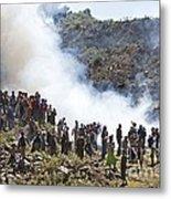 Burning Contraband Goods, Ethiopia Metal Print