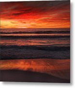 Burning Red Sunset Metal Print